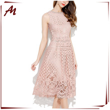 Last Hot fashion cheap plus size prom dress for women pure cotton color block lace prom dresses knee length bodycon lace dresses