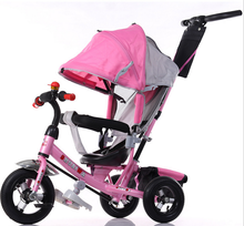 Factory wholesale low price baby tricycle children bicycle, push baby tricycle with canopy