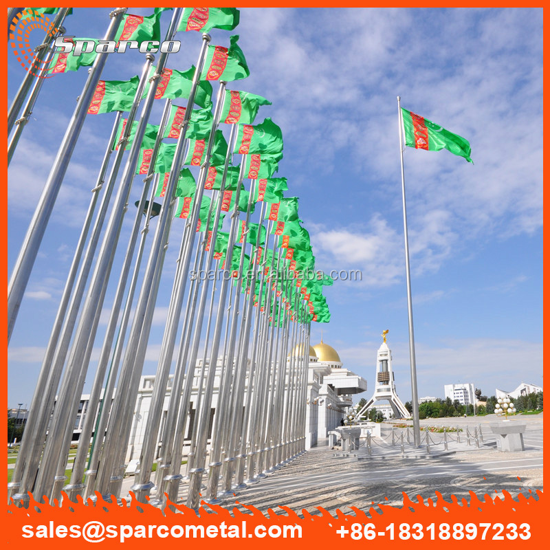 Turkmenistan custom 30m remote controlled flagpole