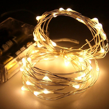 Copper fairy outdoor patio programmable led copper wire Christmas tree lights