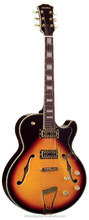 Vintage hollow body jazz guitar EEG-049 WITH TRANSPARENT PICKGUARD