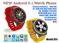 2016 Hot 3G WIFI Bluetooth Android 5.1 SmartWatch Phone