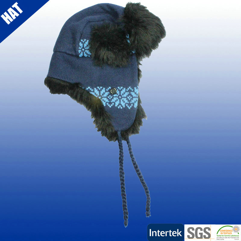 Winter russian fake fur hats trooper hat with earflap