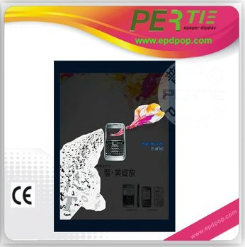 mobile led display for advertising e-paper display for POP decca advertisement, e-paper POP indoor advertisement