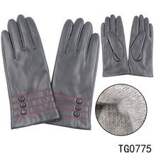 TOROS Cheap Simple Customized Women Wholesale Winter Polyester Lining PU Leather Glove