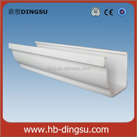 5.2 inch dual wall pvc gutter, roof gutter and pipes square,5K rain collector