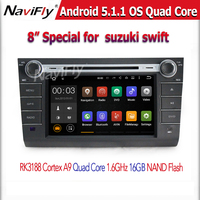 HD1024X600+Factory price +android 5.1 Quad Core CAR DVD player GPS Navigation For SUZUKI SWIFT