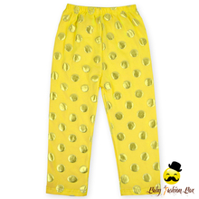 2017 Custom Printed Pants Boutique Girl Clothing Plain Yellow Gold Polka Dots Adult Baby Pants