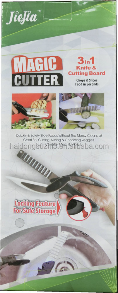 3-in1cutter knife and cutting board vegetable and fruit cutter magic cutter