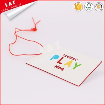 Hot Selling Coated Paper Hangtag In Garments