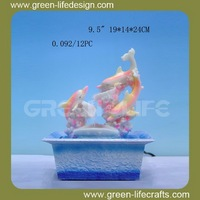 Polyresin dolphin water fountain