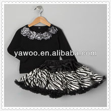 fluffy skirt outfit asian kids clothing wholesale child dance wear children clothes