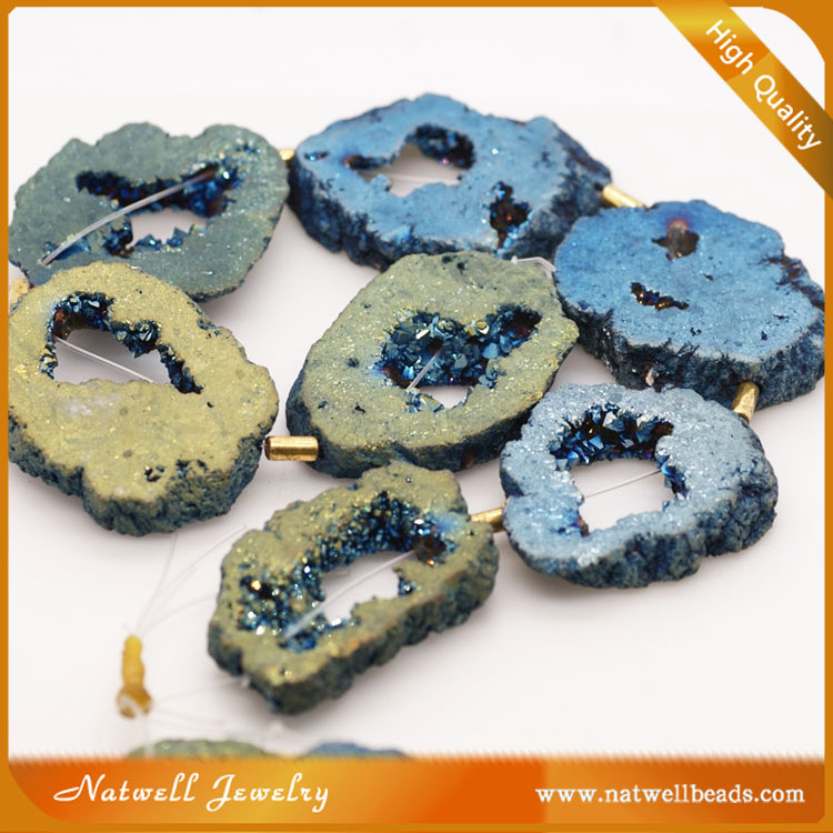 Green agate rondelle beads Fashion Stone Beads, Druzy Drusy Beads for Bracelet, Wholesale Beads