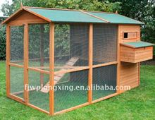 Large Wooden Chicken Coop With Run Cage