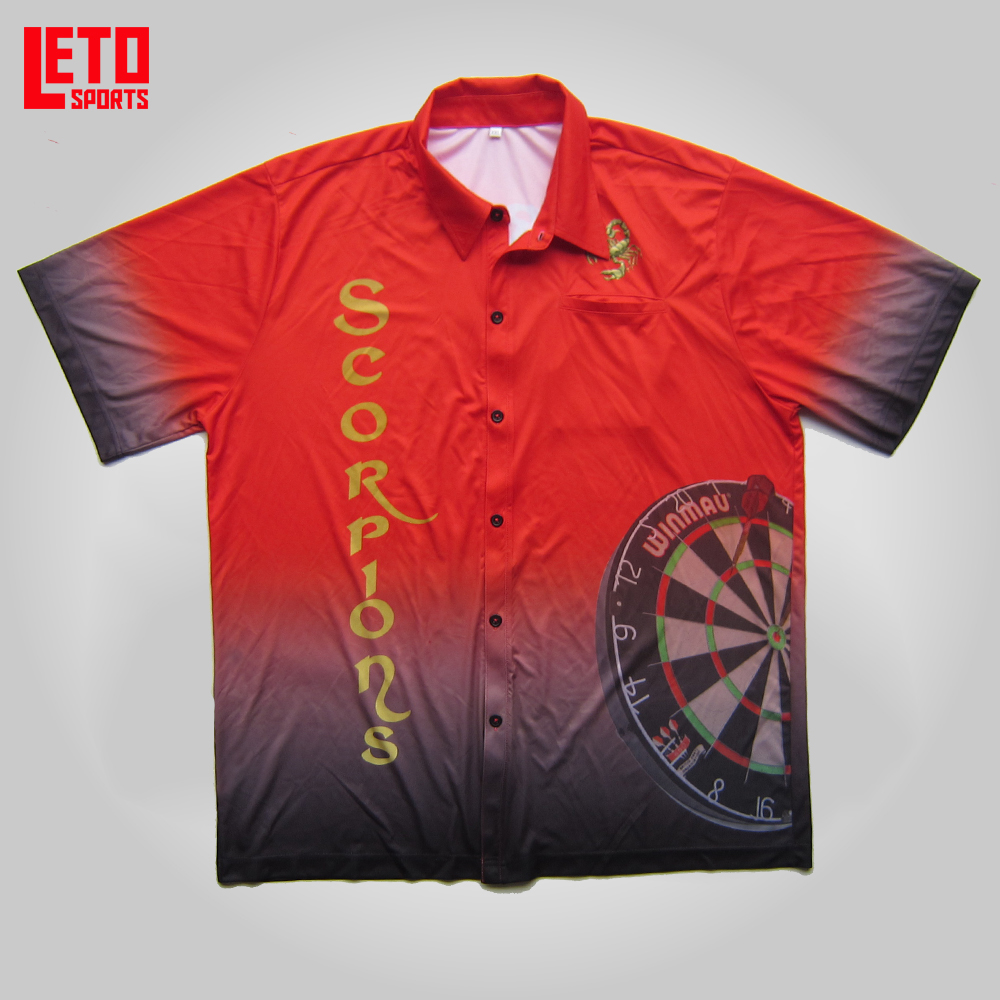 custom sublimation dry fit light weight dart pit crew shirt