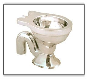 STAINLESS STEEL TOILET EWC COMMODE
