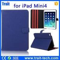 2015 South Korea Leather Magnetic Flip Stand PC + PU Leather Case for iPad Mini 4