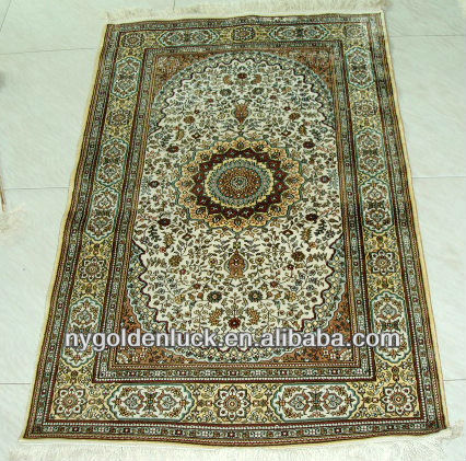 2.5x4ft man made luxury silk rugs
