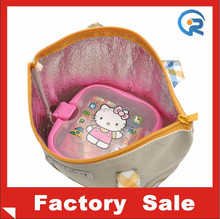 Zipper style 600D oxford mateial insulated thermal lunch bag for girl