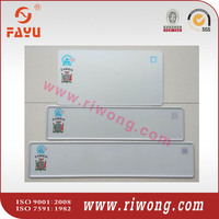 Aluminum Blank License Plate Supplier in Germany