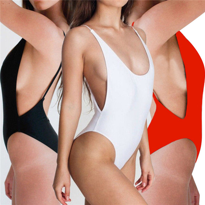 2015 New Arrival bodysuit Sexy high cut 1 one piece swimsuit Backless Swimwear Women Bathing suit Beachwear Monokini bather