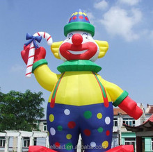 Giant inflatable clown for advertising