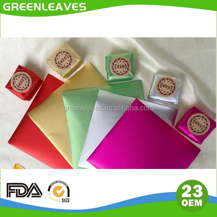 colored aluminium foil for chocolate wrapper