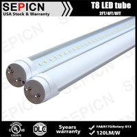 zoo tube Free Ship From US 2' 3' 4' 8' LED Tubes DLC UL LED Lamp