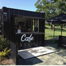 Convenient pop-up shipping container cafe, bar, shops