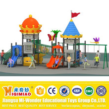 European standard plastic outdoor slide and swing set playground equipment