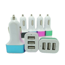 Amazon Hot Selling Multi Port USB Car Charger Universal Portable 3 USB Car Charger
