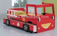 2014 lovely kids fire engine bunk bed is design for children in E1 MDF board and colorful painting