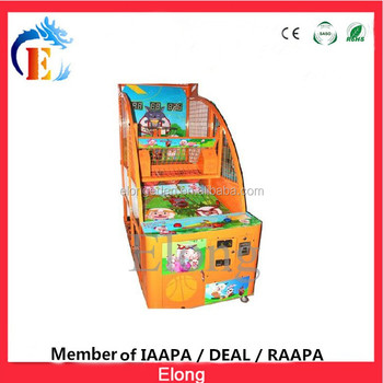 Children arcade game machine redepmtion street basketball with high quality