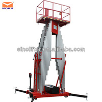 aluminium hydraulic 2 pillar lift