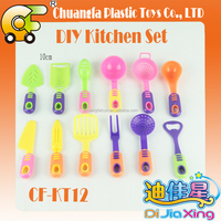 China plastic toys mini cooking tool toys kitchen toys knives & forks