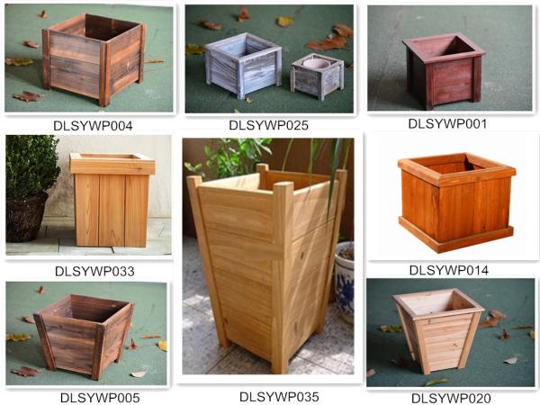 Decorative Planter Boxes Mesmerizing Outdoor Garden Square Wooden Planter Box Wood Flower Box View 2018