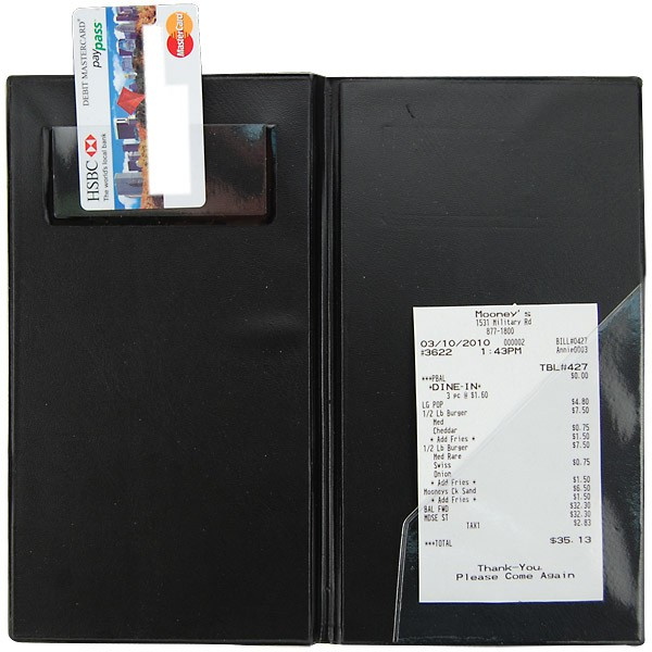 Restaurant Bill Holder Guest Check Presentation Holder