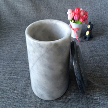 Wholesale white marble Candle Jars and stone Candle Cup Holder