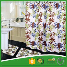 Custom Printed 100% Polyester Shower Curtain