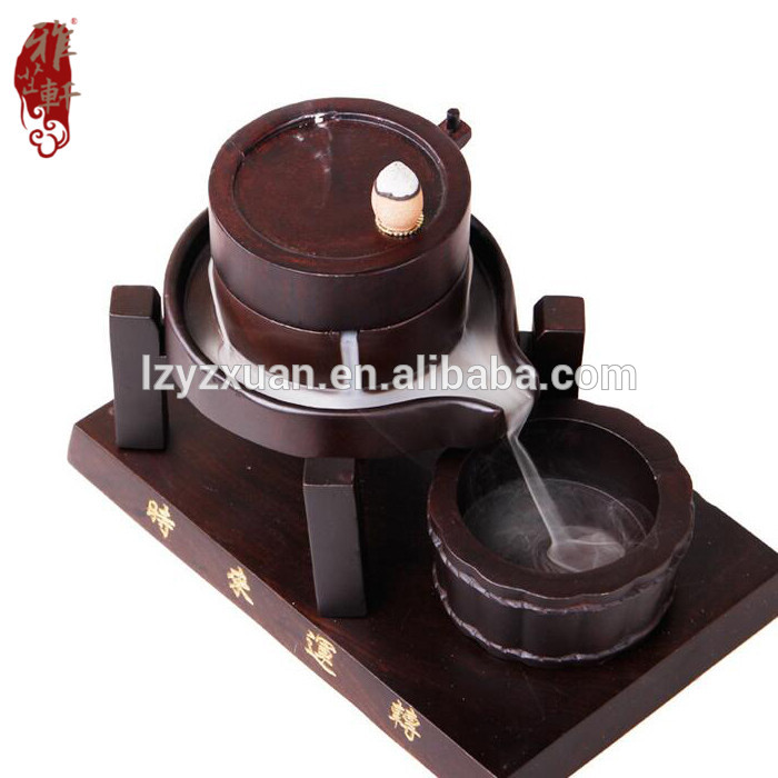 Antique design exquisite hand made wooden tower incense burner for wholesale
