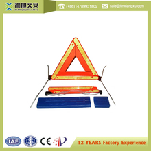 China wholesale suppliers warning triangle distance from car reflective triangle warning kit