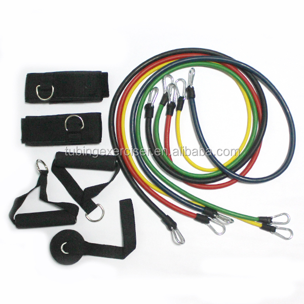 Natural rubber Latex multi Resistance band sets