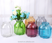 Home Decor Flower Vase Glass Material Hydroponic Bottle For Wedding/Home Decoration