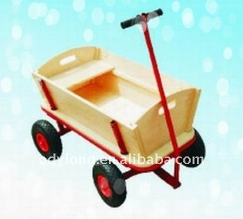 Wooden tool wagon for gardening