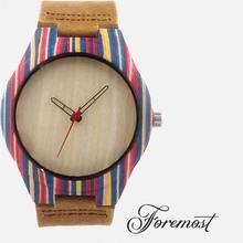The Fifth Italian Brands Private Label Simple Floral Pron Movies Tomi Surf Perlon Strap Wood Watch Leather