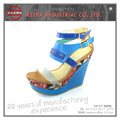 latest design costomized size women wedge sandals