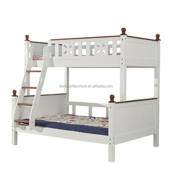 Solid Wood Youth Bunk Bed Kids Double Decker Cot Bedroom Furniture Wholesale
