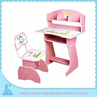 2070 Set Type Height Adjustable Wood Children Study Table And Chair