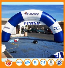 Sports training inflatable finish line arch with blower