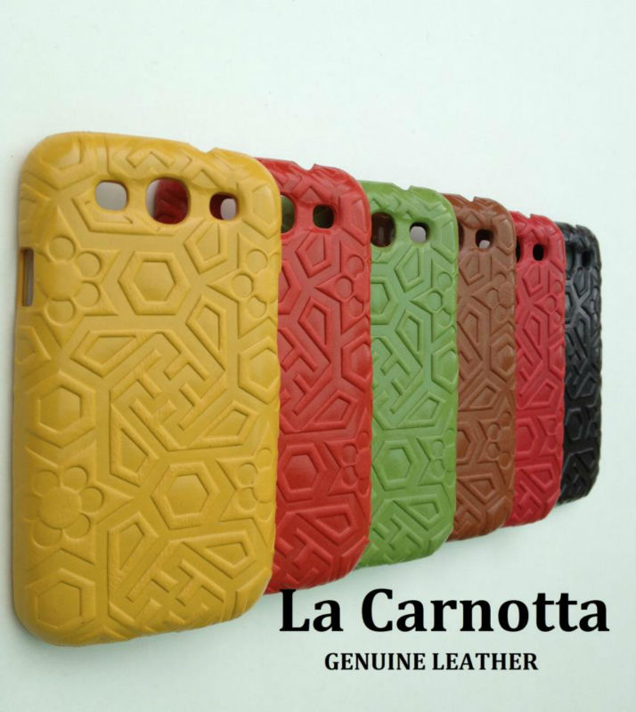 La carnotta Exclusive embossing genuine leather hard case for Samsung Galaxy S3